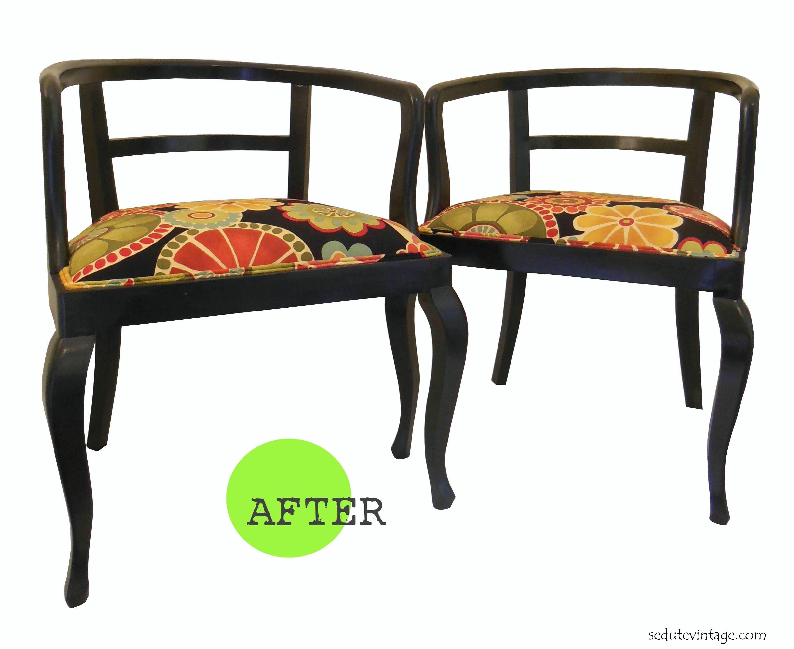Poltroncine a pozzetto vintage – Vintage wooden armchairs – SEDUTE ...