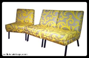 1960s modular sofa fauteuils Divanetto modulare anni 60