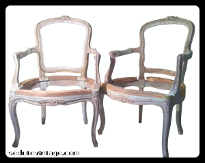 The armchairs in their original condition