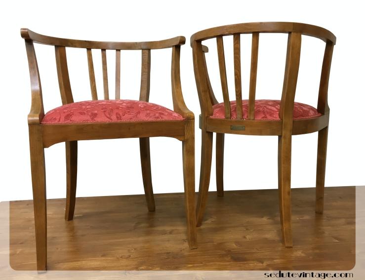 Poltroncine a pozzetto – Small armchairs – SEDUTE VINTAGE