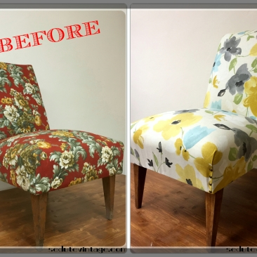 Poltroncina floreale - Floral slipper chair