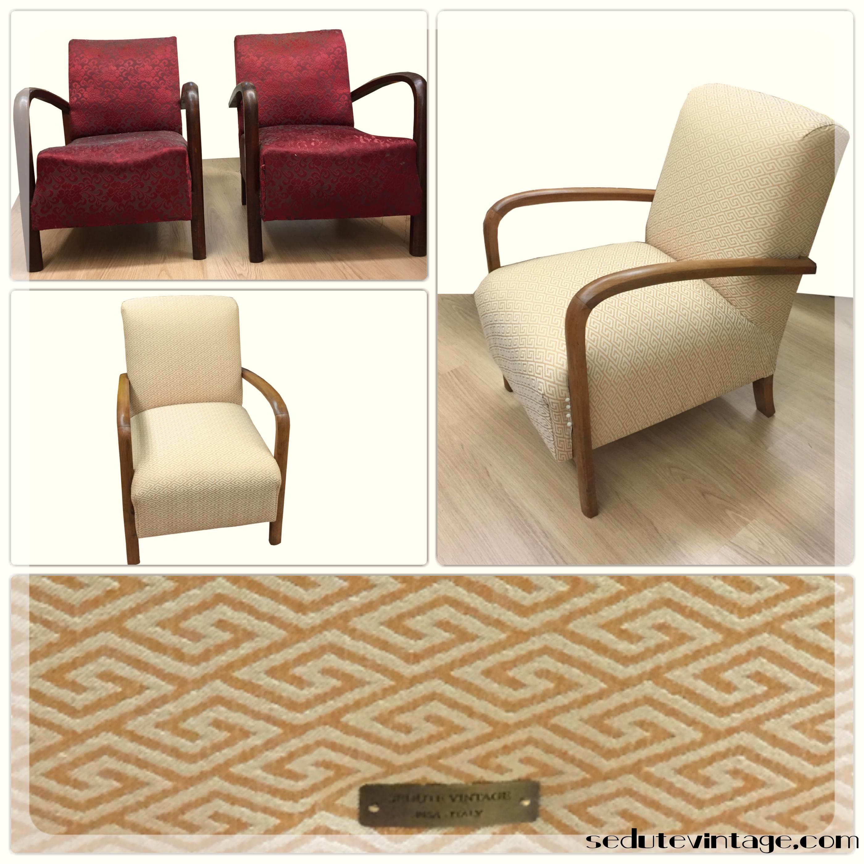 poltrone armchairs sedute vintage