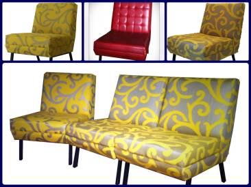 Poltroncine modulari anni 60 - 1960s modular slipper chairs