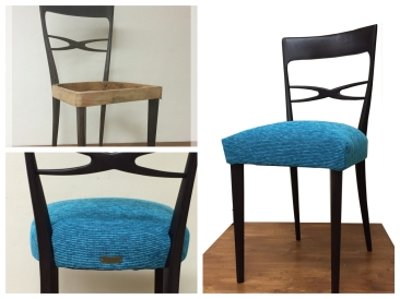 Sedia da sala blue - Blue dining chair
