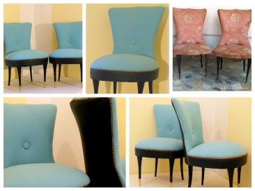 Poltroncine da camera sky blue- Slipper chairs