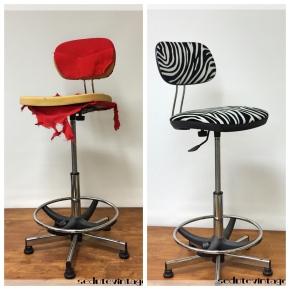 Sedia ufficio zebrata – Zebra striped officechair