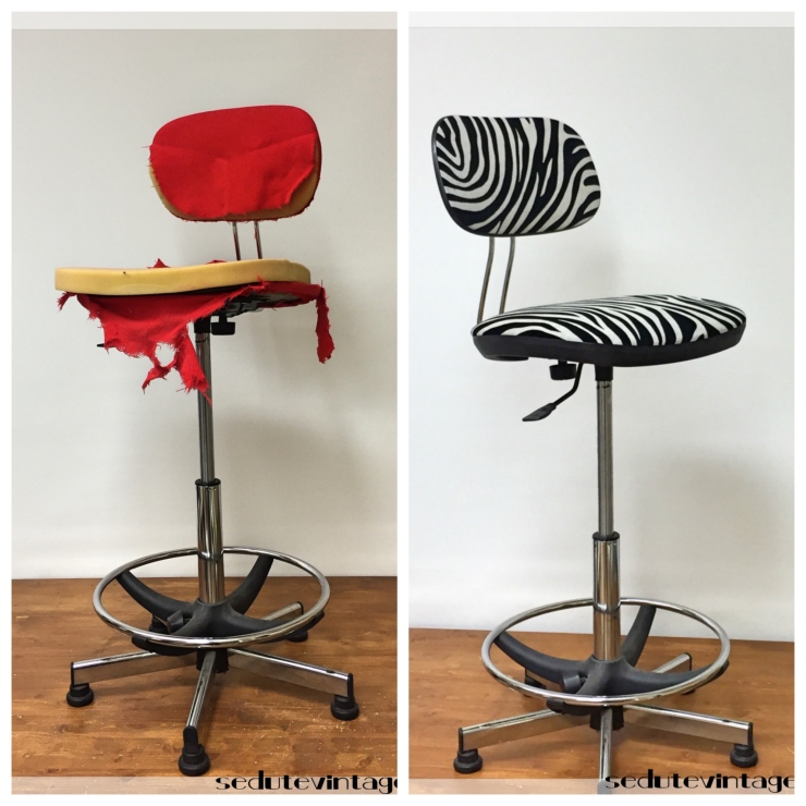 Sedia da ufficio zebrata - Office chair with zebra pattern fabric