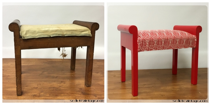 Panchetta tutto rosso - Red lacquered bench
