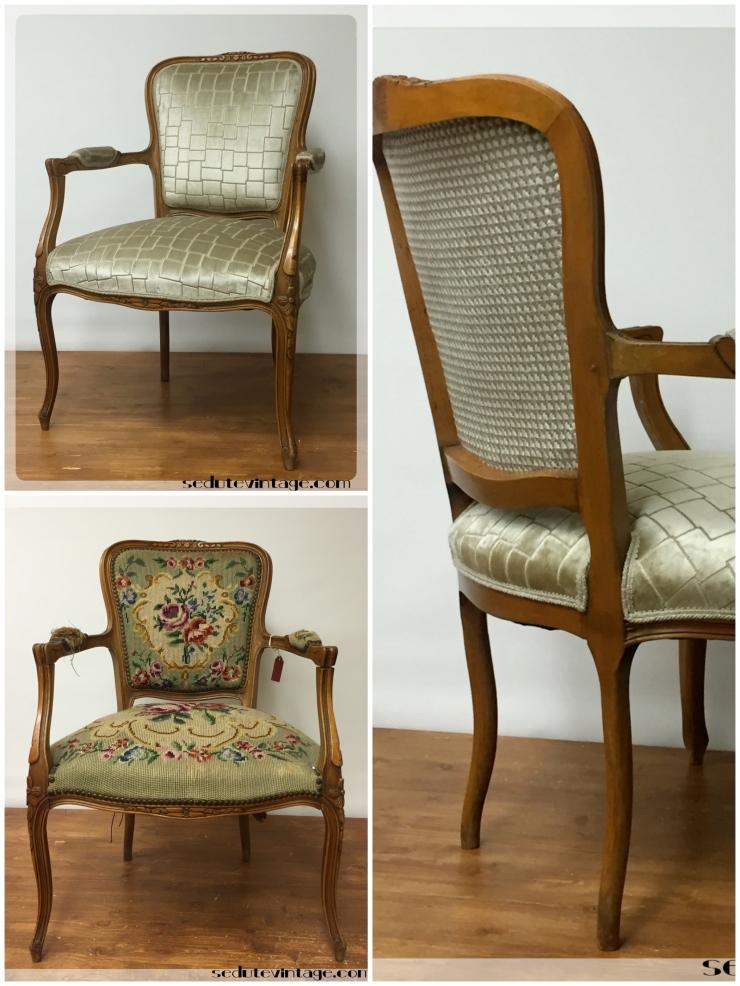 Poltroncina in stile Luigi XV – Louis XV style armchair – SEDUTE VINTAGE